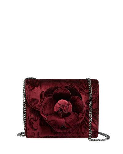 R Mini Tro Velvet Shoulder Bag