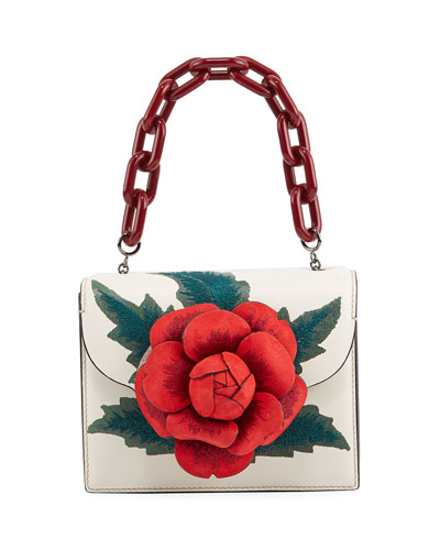 R Mini Tro Shoulder Bag with Rose