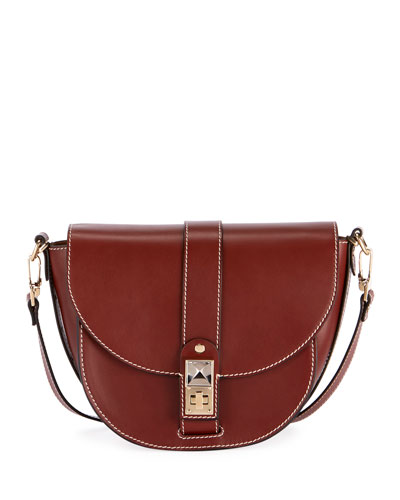 PS11 Medium Smooth Leather Saddle Bag