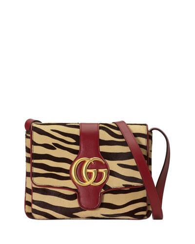 Arli Medium Tiger-Print Shoulder Bag
