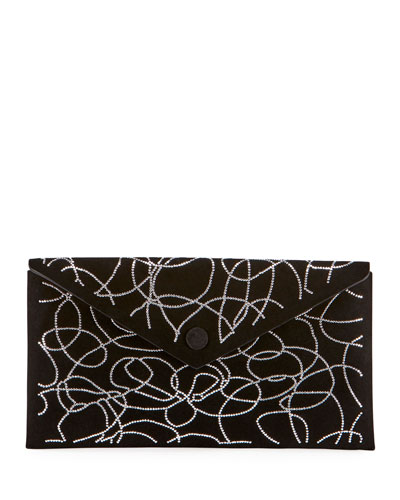 Oum Crystal Swirl Clutch Bag