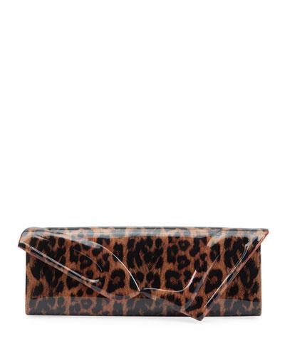 So Kate Leopard Baguette Clutch Bag
