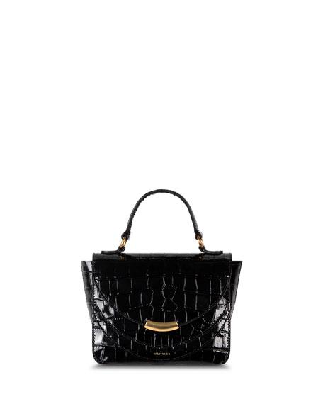 Wandler Luna Mini Croco Calf Top Handle Bag