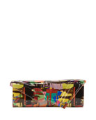 Christian Louboutin So Kate Multicolored Mosaic Patent Clutch