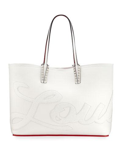 Cabata Logo Calf Glitter Tote Bag