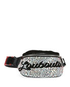 Christian Louboutin Marie Jane Maxi Crystal-Studded Suede &
