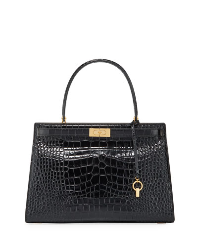 Lee Radziwill Large Embossed Satchel Bag