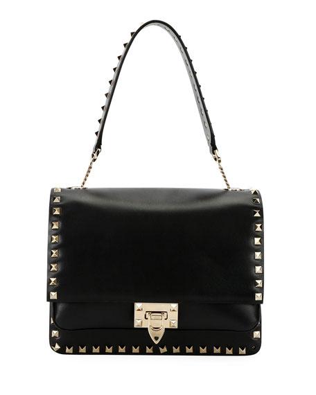 Valentino Garavani Rockstud Smooth Leather Shoulder Bag