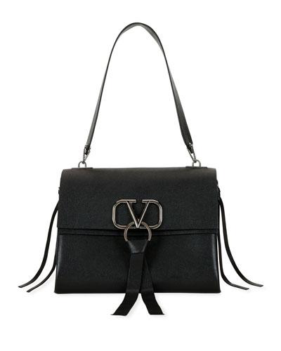 VRING Medium Leather Shoulder Bag