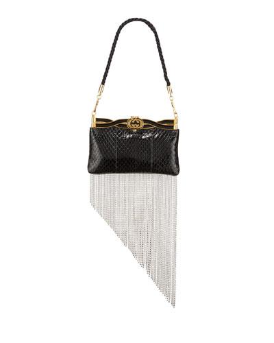 Broadway GG Snakeskin Evening Clutch Bag