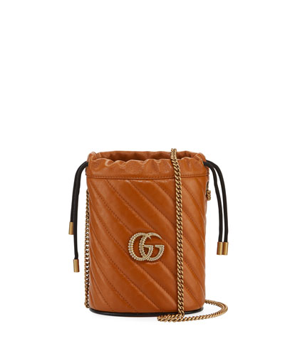 GG Marmont Torchon Mini Leather Bucket Bag