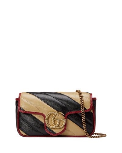 GG Marmont Striped Crossbody Bag