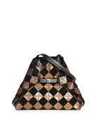 Akris AI Medium Soft Patchwork Tiles Shoulder Bag