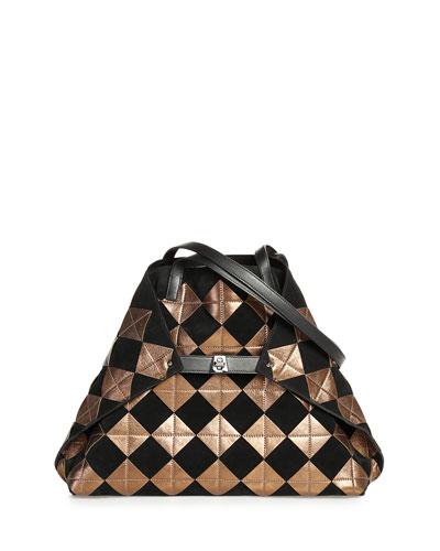 AI Medium Soft Patchwork Tiles Shoulder Bag