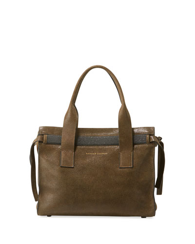 Buffed Leather Tote Bag