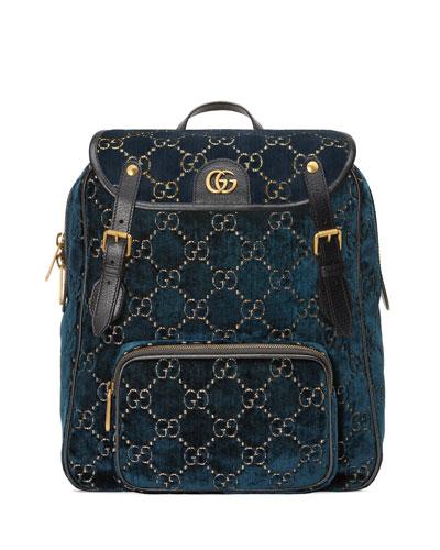 GG Velvet Backpack