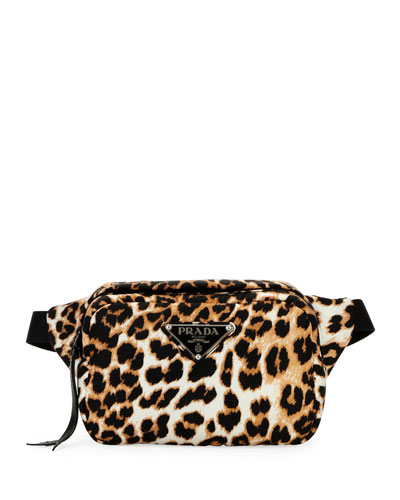 Tessuto Soft Leopard Belt Bag