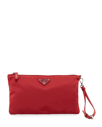 d39a57038c16 Quick Look. Prada · Vela Small Zip Pouch Clutch Bag