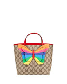 Gucci Kid's GG Supreme 3D Butterfly Tote Bag