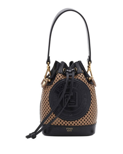 Mon Tresor Perforated Leather Bucket Bag