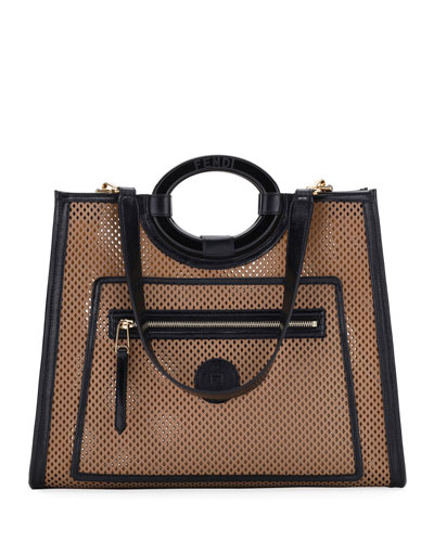 Runaway Medium Perforated Leather Tote Bag