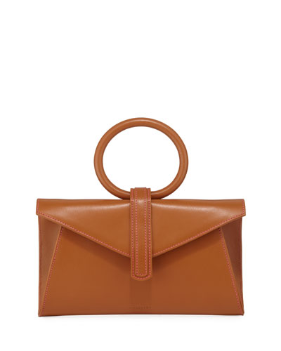 Valery Mini Leather Satchel Bag, Camel