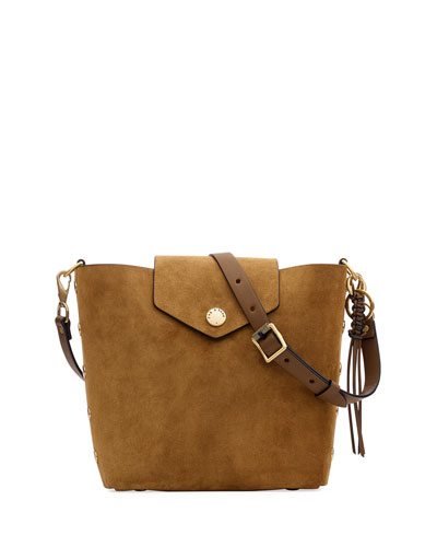Atlas Suede Bucket Bag
