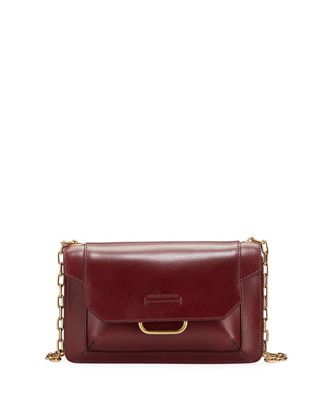 Isabel Marant Skamy Leather Flap Crossbody Bag