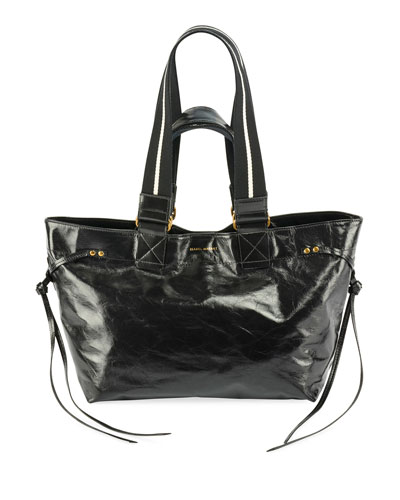 Bagya New Crackled Tote Bag, Black
