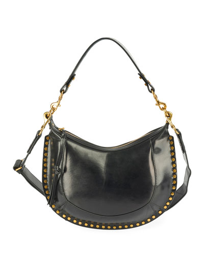 Naoko Leather Half-Moon Hobo Bag
