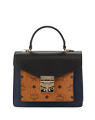 MCM Patricia Small Visetos & Leather Satchel Bag