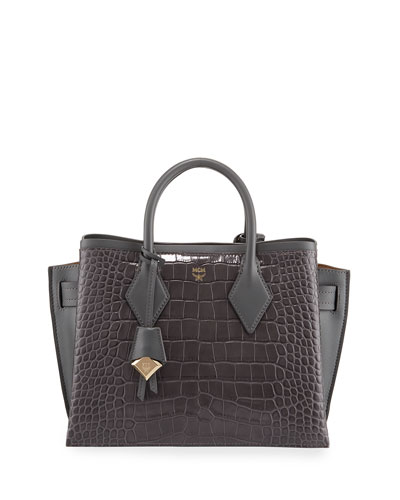 Neo Milla Medium Croco Leather Tote Bag