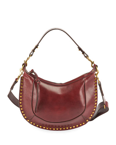 Oskan Glossy Leather Hobo Bag