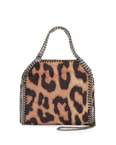 Falabella Mini Shaggy Deer Leopard Tote Bag