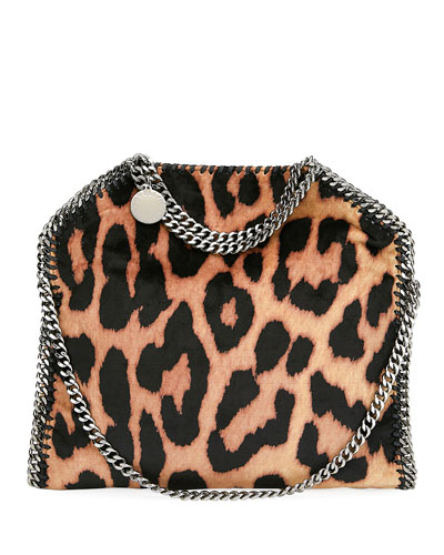 Falabella Three-Chain Leopard Tote Bag