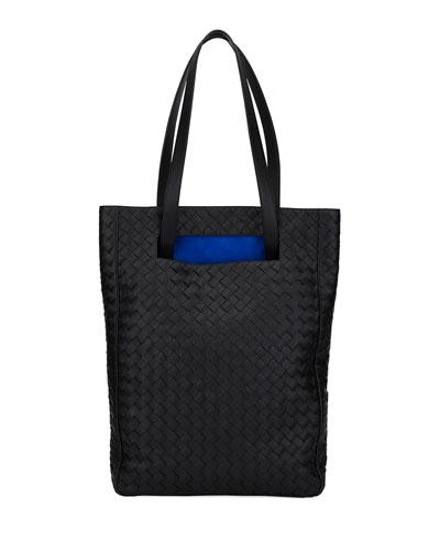 Intrecciato North/South Bucket Tote Bag
