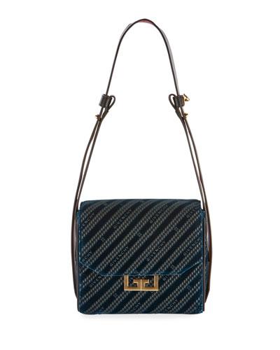 Eden Lasered Velvet Crossbody Mini Bag