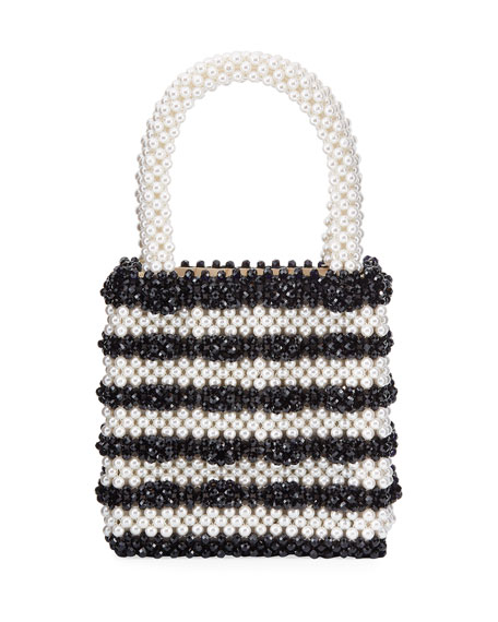 Shrimps Classic Pearly Striped Top Handle Bag
