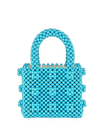 Classic Mini Pearly Handbag, Turquoise