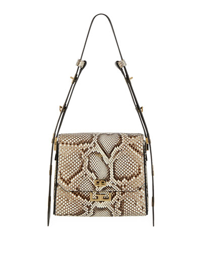 Eden Medium Python Shoulder Bag