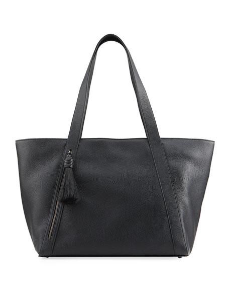 Akris Alexa Medium Leather Zip Tote Bag