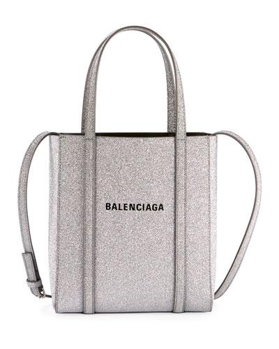 Everyday XXS Glittered Calfskin Tote Bag