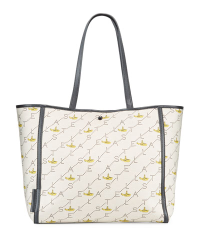 Yellow Submarine Beatles Logo Canvas Tote Bag