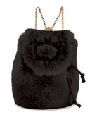 Roger Vivier Broche Mini Fur Backpack
