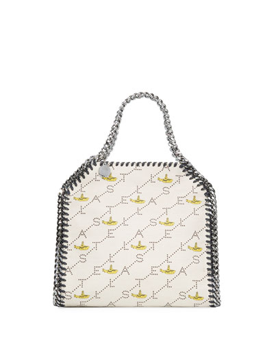 Mini Falabella Yellow Submarine Beatles Logo Canvas Crossbody Bag