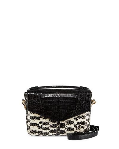 Small Soft Snakeskin Crossbody Bag