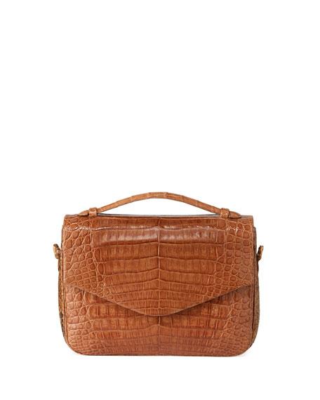 Nancy Gonzalez Large Crocodile and Python Crossbody Bag