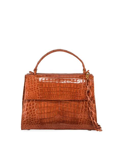 Nancy Gonzalez Lexi Large Crocodile Top-Handle Bag