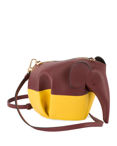 Elephant Colorblock Crossbody Bag