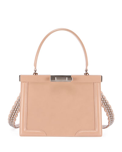 Cecile Small Framed Top Handle Bag